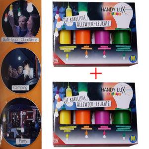 2x HandyLUX Colors Set - Tolle Gartenlampen