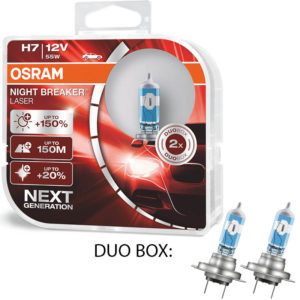 Osram Night Breaker Laser +150 H7 12V DUO BOX