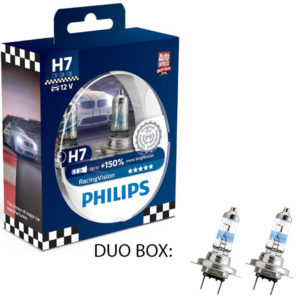 Philips Racing Vision +150 H7 12V DUO BOX
