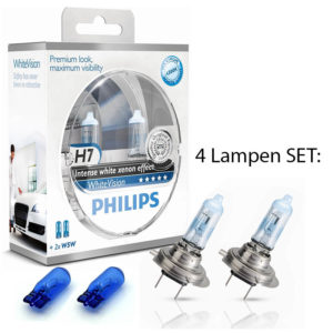 Philips White Vision H7 +w5w DUO BOX
