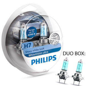 Philips White Vision Ultra H7 4.200K Duo Box