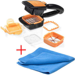 Nicer Dicer Quick Orange + Mikrofasertuch